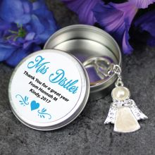 Teacher Angel Keyring with Personalised Tin