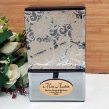 Teacher Mirrored Trinket Box- Golden Glitz