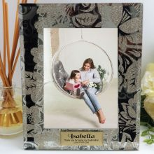 Godmother Personalised Frame 5x7 Photo Glass Golden Glitz