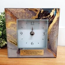 80th Birthday Glass Desk Clock - Treasure Trove
