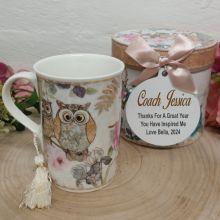 Coach Mug with Personalised Gift Box - Owl