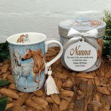 Nan Mug with Personalised Gift Box - Horse