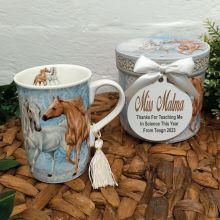 Teacher Mug with Personalised Gift Box - Horse