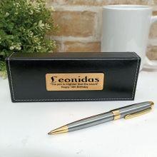 18th Birthday Satin & Gold Twist Pen Personalised Box