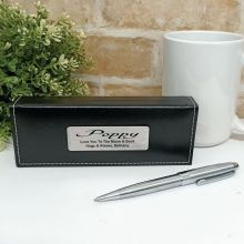 Pop Silver S/S Twist Pen in Personalised Box
