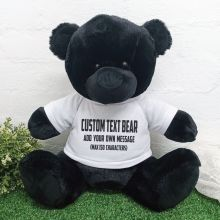 Teddy Bear with Personalised T-Shirt Black 40cm