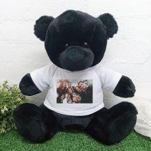 Personalised Photo Teddy Bear 40cm Black