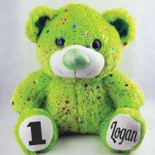 1st Birthday Teddy Bear 40cm Hollywood Green