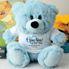 Love Your Naughty Bits Valentines Bear - Light Blue