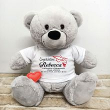 Voice Recordable Gradtuation Bear with T-Shirt - Grey 40cm