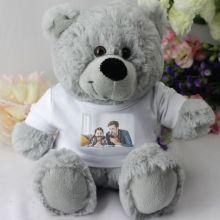 Personalised Photo T-Shirt Teddy Bear - Grey