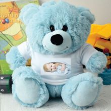 Personalised Photo T-Shirt Teddy Bear - Light Blue