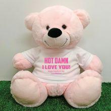 Naughty Love You Valentines Bear - 40cm Light Pink