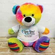Valentines Bear Love Your Naughty Bits - 40cm Rainbow