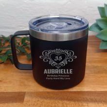 Birthday Black Travel Coffee Mug 14oz (F)