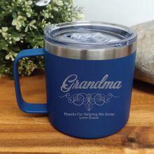 Grandma Cobalt Travel Tumbler Coffee Mug 14oz
