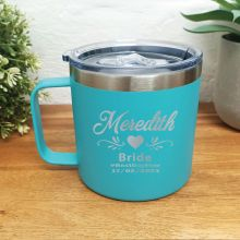 Mother of the bride Travel Tumbler Coffee Mug 14oz Teal