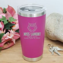 Teacher Insulated Travel Mug 600ml Pink