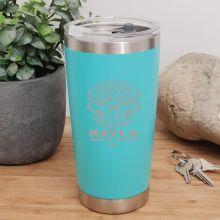 Personalised Insulated Travel Mug 600ml Teal (F)