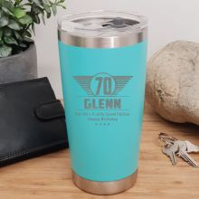 70th Insulated Travel Mug 600ml Teal (M)
