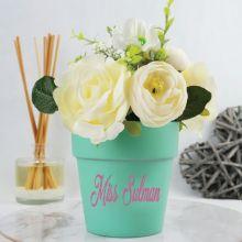 Teacher Scented Floral Arrangement in Ceramic Pot