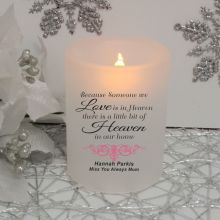 Heaven In Our Home Memorial Tea Light Candle Holder