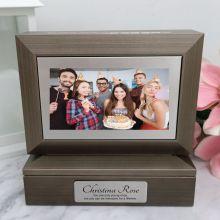 Birthday Photo Keepsake Trinket Box - Charcoal Grey
