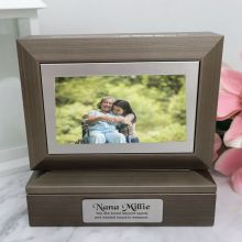 Memorial Photo Keepsake Trinket Box - Charcoal Grey
