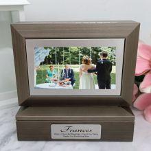 Mother of the bride Photo Keepsake Trinket Box - Charcoal Grey