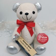 40th Birthday Signature Bear Red Bow