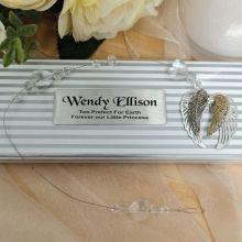 Personalised Baby Memorial Suncatcher -Angel Wings