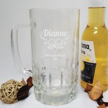 40th Birthday Engraved Personalised Glass Beer Stein (F)