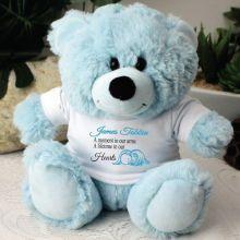 Angel Baby Boy Memorial Teddy Bear