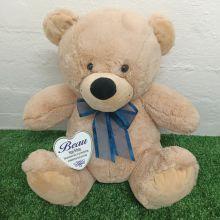 Birthday Keepsake Bear with heart Cream / Blue 40cm