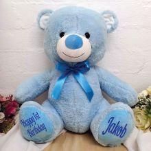 1st Birthday Teddy Bear Blue 40cm Plush