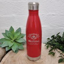 Nana Engraved Drink Bottle Red (F)
