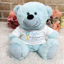 Personalised First Holy Communion Bear  - Blue