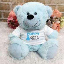 Personalised Pop Light Blue Teddy Bear