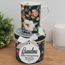 Grandma Mug with Personalised Gift Box - Bouquet