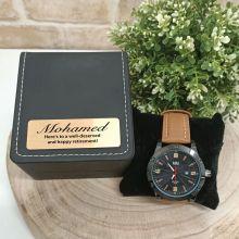 Retirement Watch Pagan Brown 45mm Mesh Personalised Box