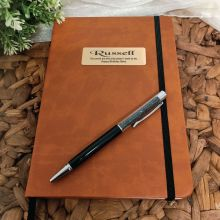 Personalised Birthday Brown Journal with Pen