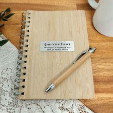 Grandma Bamboo Notepad and Pen