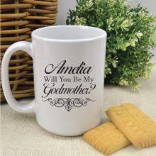 Godmother Proposal - Will You Be - White Coffee Mug