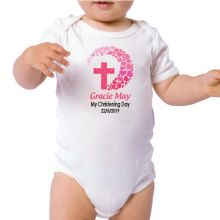 Personalised Baby Girl Christening Bodysuit