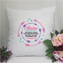 Personalised Cushion Cover -Pink Arrow