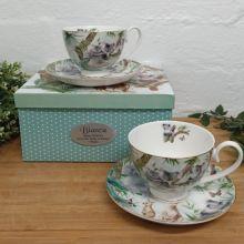 Aussie Animals Cup & Saucer Set in Birthday Box