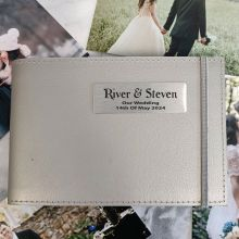 Personalised Wedding Brag Album - Silver 5x7