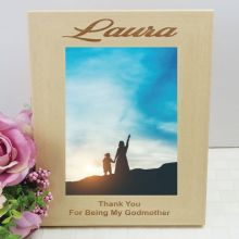 Godmother Engraved Wood Photo Frame