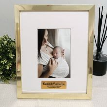 Christening Personalised Photo Frame 4x6 Gold