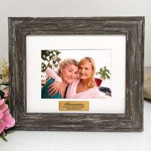 70th Personalised Photo Frame Hamptons Brown 4x6